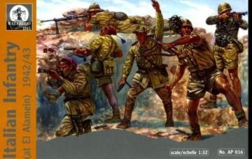 Italian Infantry at El-Alamein, 1942-43 · WAT AP016 ·  Waterloo 1815 · 1:32