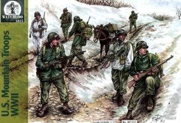 U.S. Mountain Troops WWII · WAT AP031 ·  Waterloo 1815 · 1:72