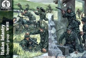 Italian Infantry Support group WWII · WAT AP034 ·  Waterloo 1815 · 1:72