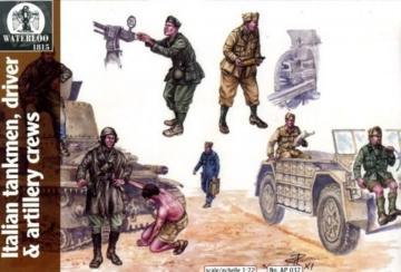 Italian Tankmen, drivers+artillery crews · WAT AP037 ·  Waterloo 1815 · 1:72