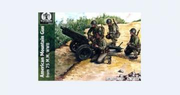 American mountain gun 75 mm, WWII · WAT AP038 ·  Waterloo 1815 · 1:72