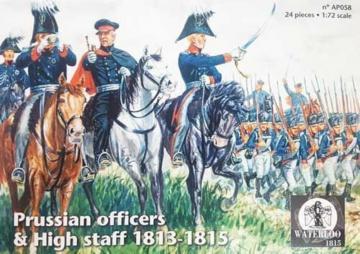 Prussian Officers & High staff 1813-1815 · WAT AP058 ·  Waterloo 1815 · 1:72