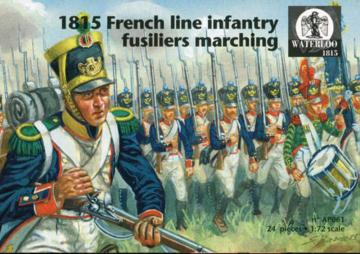 1815 French line infantry fusiliers marching · WAT AP061 ·  Waterloo 1815 · 1:72