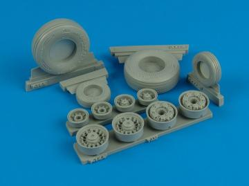 F-14A Tomcat weighted wheels (TAM) · WHL 132004 ·  Wheelliant · 1:32