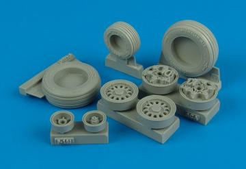F-16l Sufa weighted wheels for Academy · WHL 132006 ·  Wheelliant · 1:32