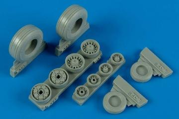 F-14B/D Tomcat weighted wheels (HAS) · WHL 148005 ·  Wheelliant · 1:48