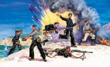 WWII Figuren-Set Rus. Marine Infan. · ZV 3520 ·  Zvezda · 1:35