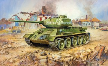 Soviet Tank T-34/85 · ZV 3533 ·  Zvezda · 1:35