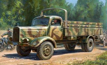 WWII German Heavy 4WD Cargo Truck I. 4500 A Schwerer LKW 4,5t · ZV 3596 ·  Zvezda · 1:35
