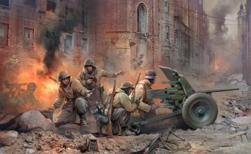 WWII Dt. PAK 36 mit Mannschaft · ZV 3610 ·  Zvezda · 1:35