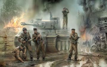 Deutsche Panzerbesatzung 43-45 · ZV 3614 ·  Zvezda · 1:35