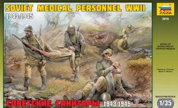 WWII Soviet Medical Personnel · ZV 3618 ·  Zvezda · 1:35