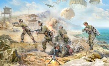 WWII Figuren-Set Dt.Fallschirmjäger · ZV 3628 ·  Zvezda · 1:35