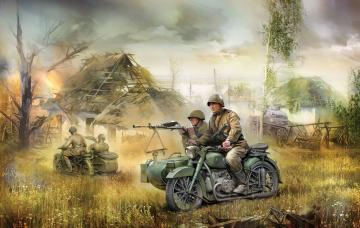 WWII Rus. Motorrad M-72 · ZV 3639 ·  Zvezda · 1:35