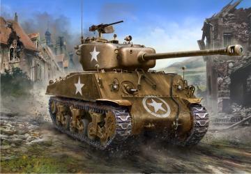 M4A3 (76)W Sherman · ZV 3676 ·  Zvezda · 1:35