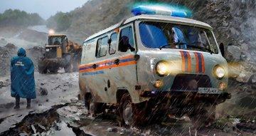 UAZ 3909 Emergency service · ZV 43002 ·  Zvezda · 1:43