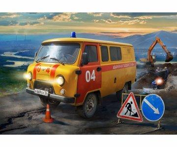 UAZ Gas Service Car · ZV 43003 ·  Zvezda · 1:43
