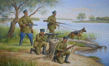 Soviet Frontier Guards · ZV 6144 ·  Zvezda · 1:72