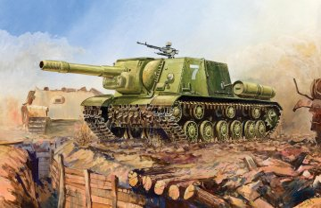 Soviet Self-propelled Howitzer SU-152 · ZV 6182 ·  Zvezda · 1:100
