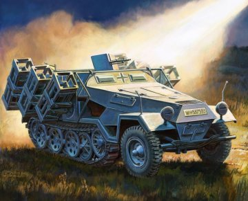 Sd.Kfz251/1 Ausf.B Stuka zu Fuss · ZV 6243 ·  Zvezda · 1:100