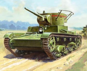 T-26 mod.1933 Sov. light tank WWII · ZV 6246 ·  Zvezda · 1:100