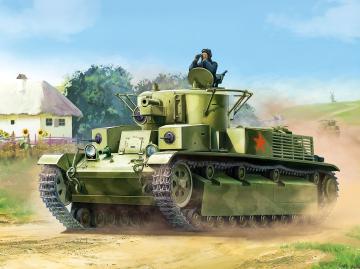 T-28 Soviet heavy tank WWII · ZV 6247 ·  Zvezda · 1:100