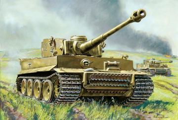 Tiger I - German Heavy Tank · ZV 6256 ·  Zvezda · 1:100