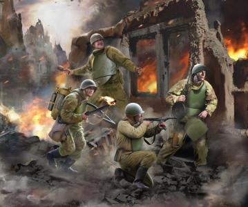 Soviet Assault Sapper Team WWII · ZV 6271 ·  Zvezda · 1:72