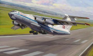 Ilyushin IL-76 MD Heavy Transporte · ZV 7011 ·  Zvezda · 1:144