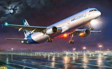 Airbus A-321 · ZV 7017 ·  Zvezda · 1:144