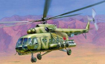 Sov. MIL MI-17 HIP-H Helikopter · ZV 7253 ·  Zvezda · 1:72