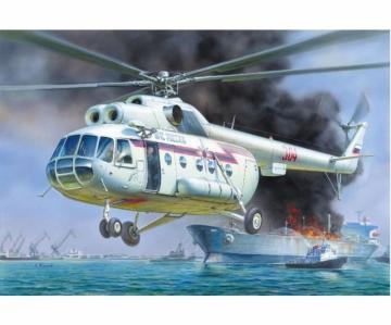 MIL MI-8 Rescue Helicopter · ZV 7254 ·  Zvezda · 1:72