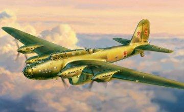 Petleyakov Pe-8 Soviet Long Range Bomber · ZV 7264 ·  Zvezda · 1:72