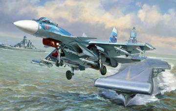 Sukkoi SU-33 Russian Naval Fighter · ZV 7297 ·  Zvezda · 1:72