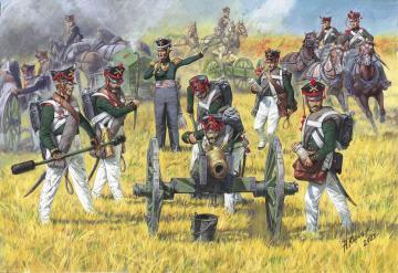 Russian Artillery, 1812-1815 · ZV 8022 ·  Zvezda · 1:72