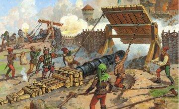 Medieval Heavy Bombard XIV-XV A.D. · ZV 8032 ·  Zvezda · 1:72