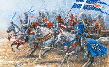 French Knights and Cavalry, XV AD · ZV 8036 ·  Zvezda · 1:72