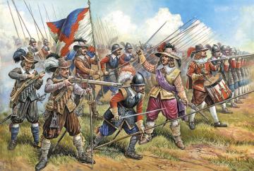Austrian Musketeers+Pikemen · ZV 8061 ·  Zvezda · 1:72