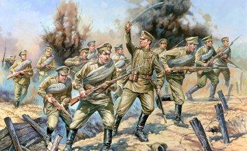 WWI Figuren-Set Rus Infanterie · ZV 8082 ·  Zvezda · 1:72