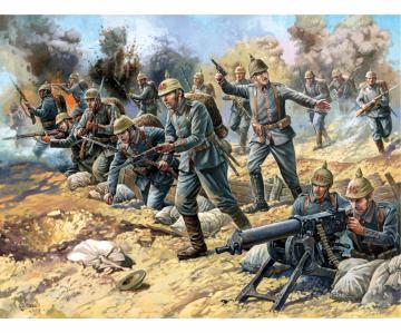 WW I Figuren-Set Dt. Infanterie · ZV 8083 ·  Zvezda · 1:72