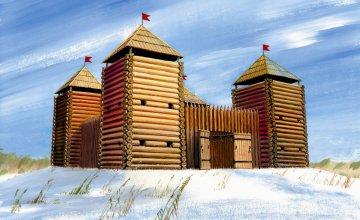 Medieval Fortress (Wooden) · ZV 8501 ·  Zvezda · 1:72
