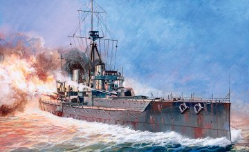 Britisches Kriegsschiff HMS Dreadnought · ZV 9039 ·  Zvezda · 1:350