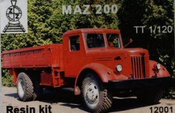 MAZ-200 · ZZ 12001 ·  ZZ Modell · 1:120