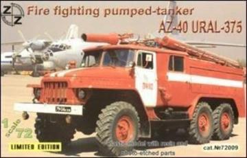 AZ-40 Ural-375 fire fighter · ZZ 72009 ·  ZZ Modell · 1:72