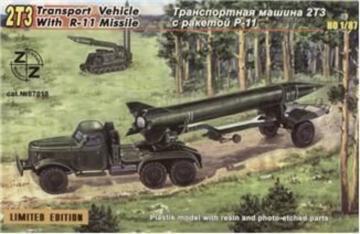 2TZ Soviet transport vehicle w. R-11 · ZZ 87018 ·  ZZ Modell · 1:87