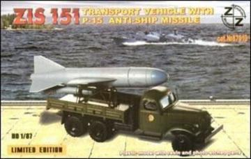 ZiS-151 vehicle w. P-15 anti-ship miss. · ZZ 87019 ·  ZZ Modell · 1:87
