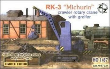 PK-3 Michurin crawler rotary crane · ZZ 87024 ·  ZZ Modell · 1:87