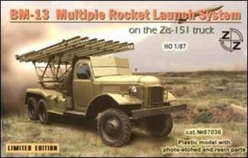 BM-13 Soviet rocket launch s. on ZiL-151 · ZZ 87036 ·  ZZ Modell · 1:87
