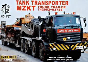 Volat MZKT Tank Transporter  - Limited Edition · ZZ 87204 ·  ZZ Modell · 1:87