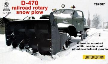 D-470 Railroad rotary snow plow · ZZ T87007 ·  ZZ Modell · 1:87